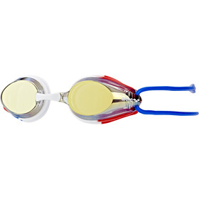 arena Tracks Mirror Goggles Kinderen, gold-blue-red